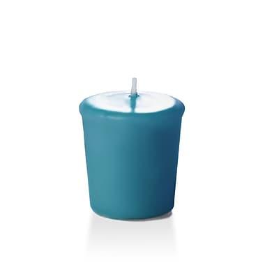 Yummi – Bougies votives inodores, turquoise, 15 heures, 144 bougies par boîte