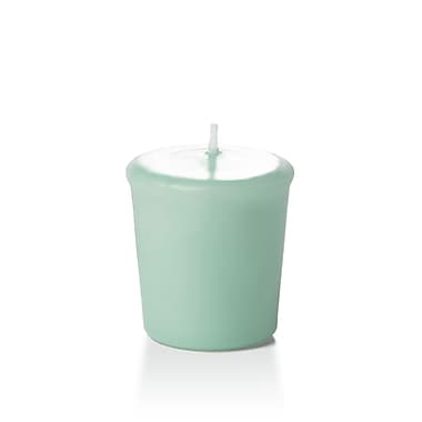 Yummi Unscented Votive Candles, Tiffany Blue, 15-Hour, 144 Candles/Box