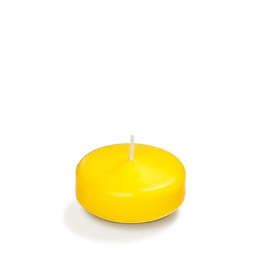 Yummi Floating Candles, Bright Yellow, 3