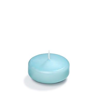 Yummi – Bougies flottantes, bleu œuf de merle, 3 po, 18 bougies par boîte