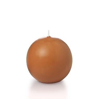Yummi Sphere / Ball Candles, Sienna, 2.8