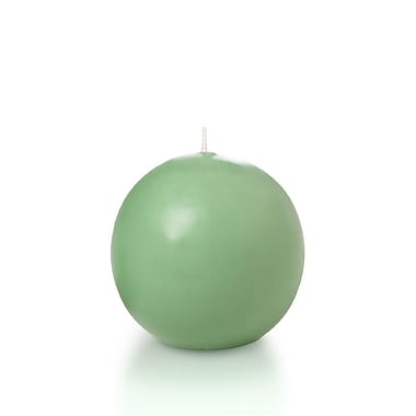 Yummi Sphere / Ball Candles, Sage, 2.8