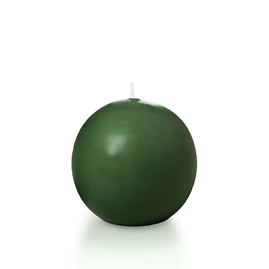 Yummi Sphere / Ball Candles, Hunter Green, 2.8