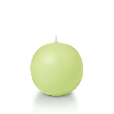 Yummi Sphere / Ball Candles, Celery Green, 2.8