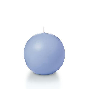Yummi Sphere / Ball Candles, Periwinkle Blue, 2.8