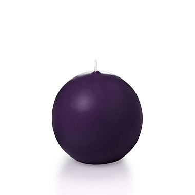 Yummi Sphere / Ball Candles, Dark Purple, 2.8