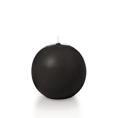 Yummi – Bougies rondes, noir, 2,8 po, 12 bougies par boîte