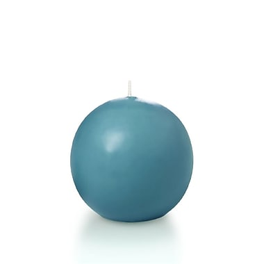 Yummi Sphere / Ball Candles, Turquoise, 2.8