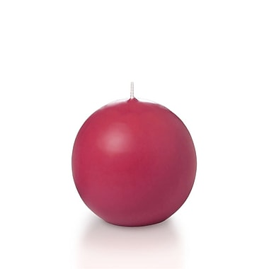 Yummi Sphere / Ball Candles, Paradise Pink, 2.8