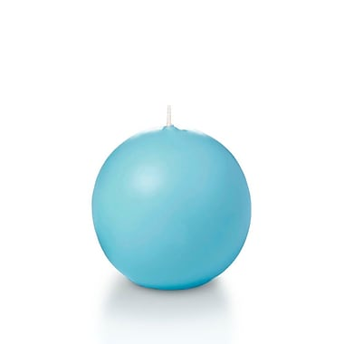 Yummi Sphere / Ball Candles, Caribbean Blue, 2.8