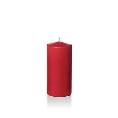 Yummi Round Pillar Candles, Ruby Red, 3