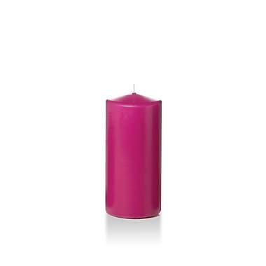 Yummi Round Pillar Candles, Hot Pink, 3