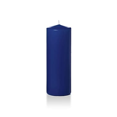 Yummi – Bougies-pilier, bleu marine, 3 x 8 po, 12 bougies par boîte