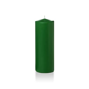 Yummi – Bougies-pilier, vert forêt, 3 x 8 po, 12 bougies par boîte