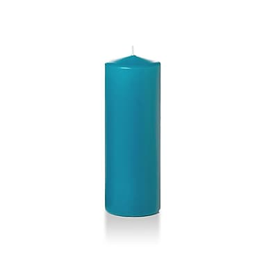 Yummi Round Pillar Candles, Turquoise, 3