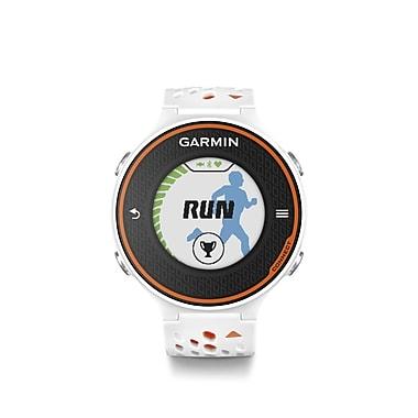 Garmin – Montre de course à pied Forerunner® 620 avec moniteur de fréquence cardiaque, blanc/orange