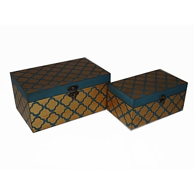 Cheungs 2 Piece Clover Treasure Box Set; Blue and Gold