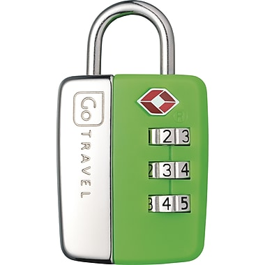 Go Travel – Cadenas à combinaison TSA® Travel Sentry®, vert