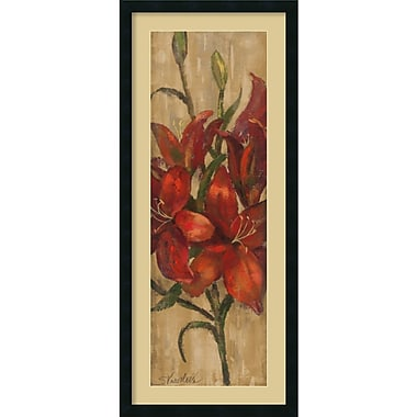 Amanti Art Vivid Red Lily on Gold Framed Art Print by Silvia Vassileva, 42