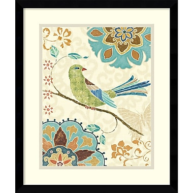 Amanti Art Eastern Tales Birds II Framed Art Print by Daphne Brissonnet, 19.13