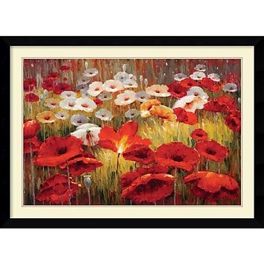 Amanti Art Meadow Poppies II Framed Art Print by Lucas Santini, 31.13