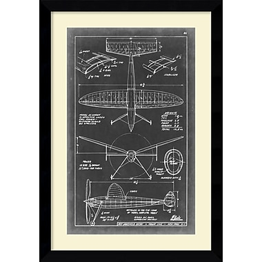 Amanti Art Aeronautic Blueprint III Framed Art Print, 36.63