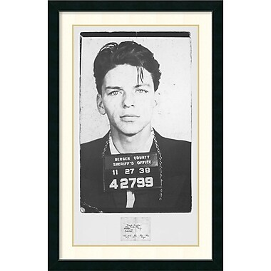 Amanti Art Frank Sinatra Mugshot Framed Art Print, 43.13