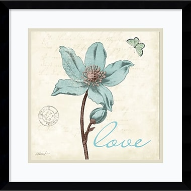 Amanti Art Touch of Blue IV Love Framed Art Print by Katie Pertiet, 17.13