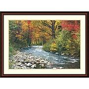 "Amanti Art ""Forest Creek (i)"" Framed Art Print, 32""H x 43""W"
