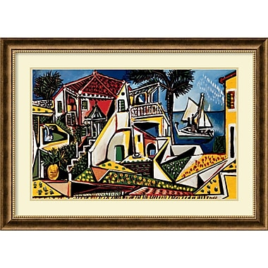 Amanti Art Paysage Mediterraneen Framed Art Print by Pablo Picasso, 26.75