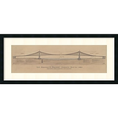 Amanti Art Brooklyn Bridge Framed Art Print by Craig S. Holmes, 17