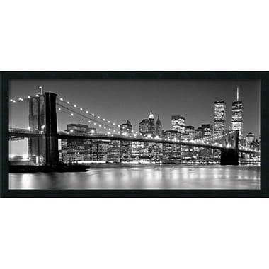 Amanti Art Brooklyn Bridge Framed Art Print by Henri Silberman, 18