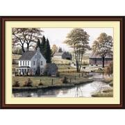 "Amanti Art ""Autumn Grazing"" Framed Art Print by Bill Saunders, 32""H x 43""W"