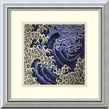 Amanti Art Masculine Wave Framed Art Print by Katsushika Hokusai, 14