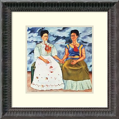 Amanti Art The Two Fridas, 1939 Framed Art Print by Frida Kahlo, 14.25