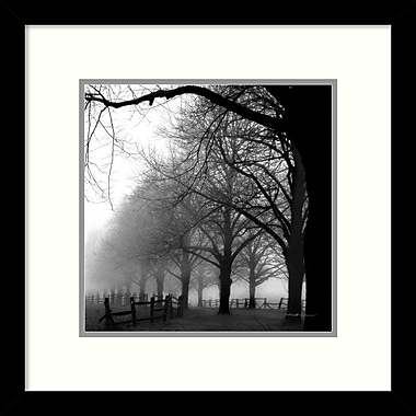Amanti Art ? Impression encadrée « Black and White Morning » par Harold Silverman, 13 haut. x 13 larg. (DSW987454)