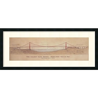 Amanti Art Golden Gate Bridge Framed Art Print by Craig S. Holmes, 17