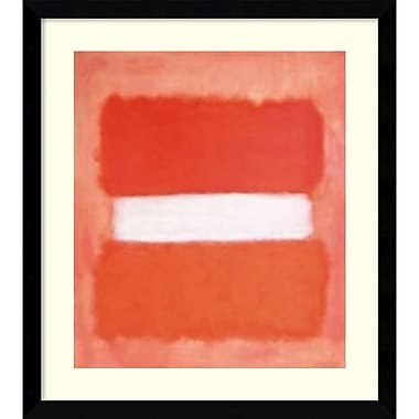 Amanti Art White Center, 1957 Framed Art Print by Mark Rothko, 36.63