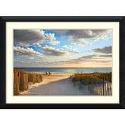 "Amanti Art ""Sunset Beach"" Framed Art Print by Daniel Pollera, 32""H x 43.5""W"