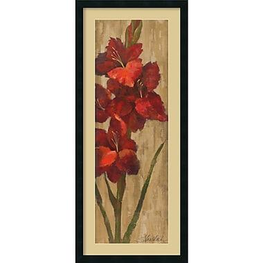 Amanti Art Vivid Red Gladiola on Gold Framed Art Print by Silvia Vassileva, 42