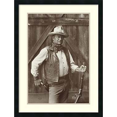 Amanti Art John Wayne Framed Art Print by Bob Willoughby, 32