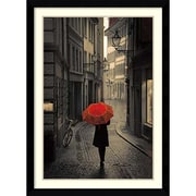 "Amanti Art ""Red Rain"" Framed Art Print by Stefano Corso, 42.63""H x 31.13""W"