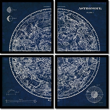 Amanti Art Celestial Blueprint Framed Art Print by Susan Schlabach, 18.5