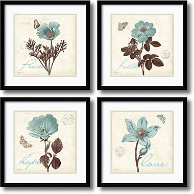 Amanti Art Touch of Blue, black frame Framed Art Print by Katie Pertiet, 17.13