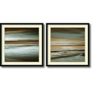 "Amanti Art ""Lowtide/Hightide - Set of 2"" Framed Art Print by John Seba, 34""H x 34""W"