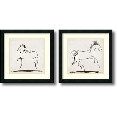 Amanti Art Horses Framed Art Print by Tom Reeves, 18
