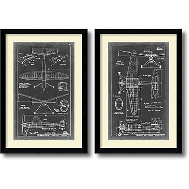 Amanti Art Aeronautic Blueprint III & IV Framed Art Print, 36.63