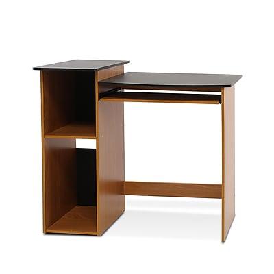 Furinno Econ Standard Computer/Writing Desk, Light Cherry/Black