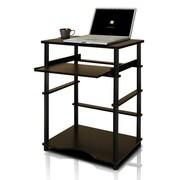Furinno 23.6'' Rectangular Polyethylene Contemporary Computer Desk, Espresso/Black (10016EX/BK)