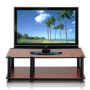 Furinno® Rubber trees and PVC Tubes Television Stand, Dark Cherry & Black